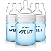 Philips Avent Anti-colic Baby Bottles Blue, 4oz, 3 Piece