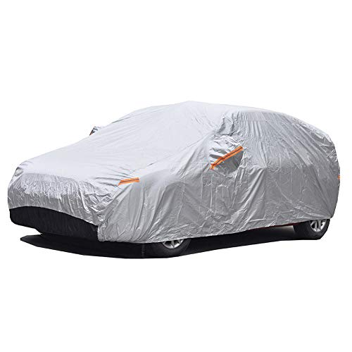 GUNHYI Winter Car Covers Four layers Waterproof All Weather,Sun Rain Dust Snow Protection For Automobiles Outdoor Indoor,Fit Hatchback (Length 165-178 inch)