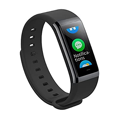 Amazfit Cor Fitness Band by Huami with All-Day Heart Rate and Activity Tracking, 5 ATM Water Resistance, 4 Sports Modes, Mobile Notifications, Color LCD, US Service and Warranty (Charcoal Black)