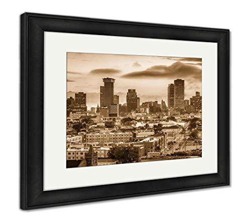 - Ashley Framed Prints New Orleans, Louisiana, USA, Wall Art Home Decoration, Sepia, 34x40 (Frame Size), Black Frame, AG32911934