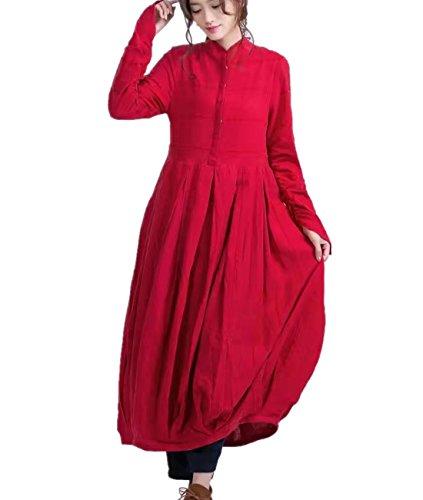 Linen Striped Dress - 6