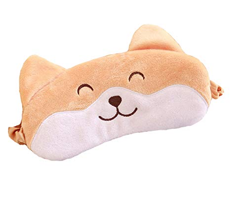 Cute Novelty Brown Dog Corgi Puupy Funny Sleeping Masks for Women Men Kids Sleep Mask with Eyes]()