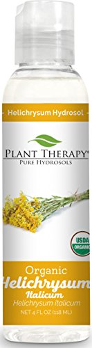Organic Floral Water (Plant Therapy Organic Helichrysum Hydrosol. (Flower Water, Floral Water, Hydrolats, Distillates) Bi-Product of Essential Oils. 4 Ounce.)