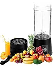 Draagbare persoonlijke blender, 420 ml huishoudelijke mini sapcentrifuge met zes messen, 4000 mah USB oplaadbaar met zes messen, ideaal voor verpletterd ijs, shakes, smoothies en baby koken
