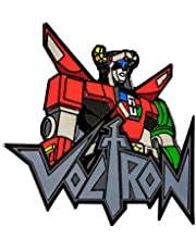 Voltron - Voltron Bust with Logo Small Enamel Pin