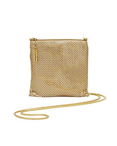 (Whiting & Davis Cross-Body Dance Bag,Gold, )