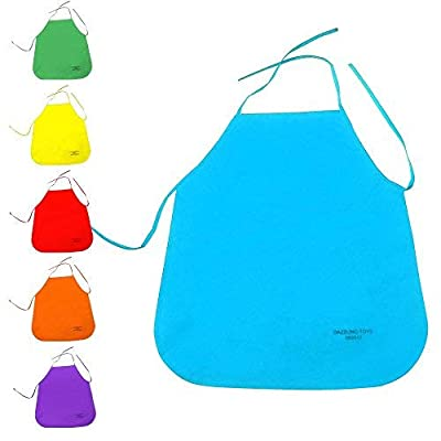 Multicolor Kids Artists Apron Set of 24 - Open Back Sleeveless Art Craft Smock Aprons | Children's Assorted Variety Pack of 24 Colorful DIY Protective Reusable Kitchen | Painting Aprons Ages 3 and Up: Toys & Games