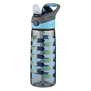 Contigo AUTOSPOUT Straw Striker Kids Water Bottle, 20 oz., Charcoal