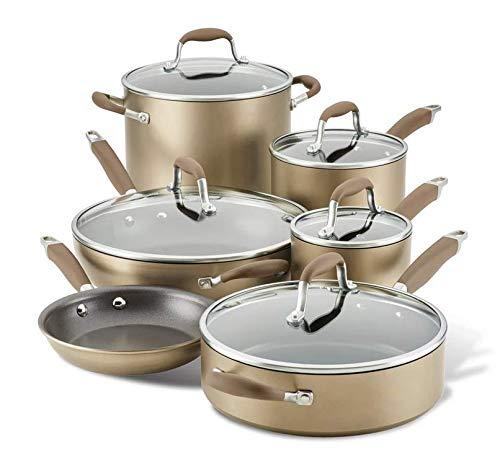 Anolon Advanced Home Hard-Anodized Aluminum 11-Piece Cookware Set (Bronze)