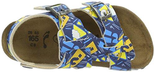 Birki Ios Unisex-Kinder Sandalen Blau (Donald Blue)