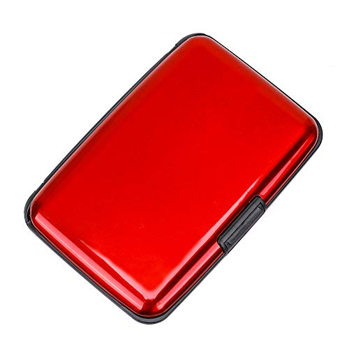 Elfish Mini RFID Aluminum Wallet Credit Cards Holder Metal ID Case for Men Women