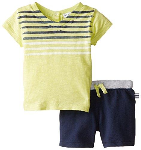 UPC 604192123211, Splendid Littles Baby Boys' V Neck Tee Short Set, Light Green, 18 24 Months