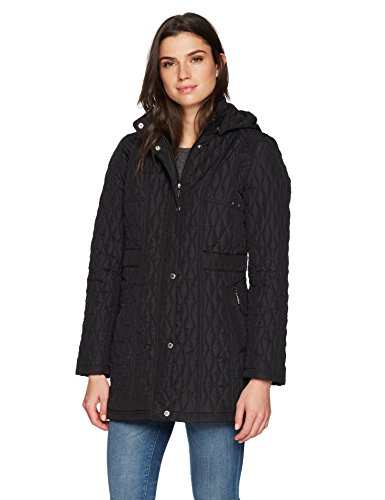 Weatherproof Women's Quilted Hooded Walker, Black, Large
