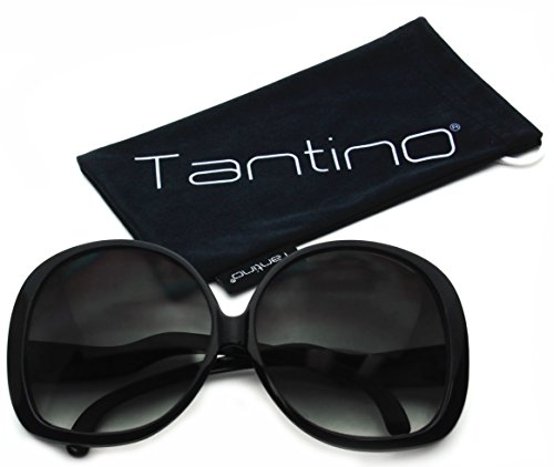 Tantino Big Huge Oversized Square Sunglasses Womens Fashion Black - Frames Big Black