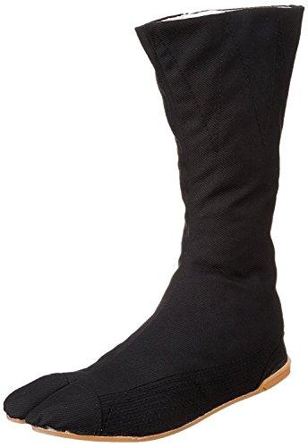 Marugo Tabi Boots Ninja Shoes Jikatabi (Outdoor tabi) MANNEN Nuitsuke (Sewn Rubber Outsole) 12 hock 26.0cm Black]()