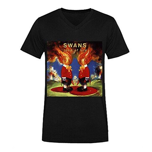 swans-love-of-life-men-t-shirt-v-neck-black