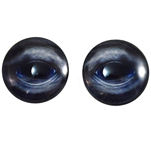 Extra Large 40mm Pair of Blue Whale Glass Eyes, for Jewelry Making, Dolls, Sculptures, More