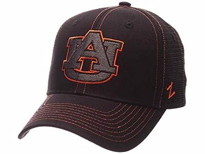 Zephyr Auburn Tigers Black Mesh Blackout Trucker Adjustable Snapback Hat Cap by Zephyr