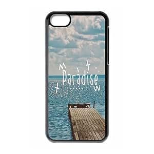 XiFu*Meiiphone 4/4s Case,Paradise Beach Dock Hard Shell Back Case for Black iphone 4/4s Okaycosama376992XiFu*Mei