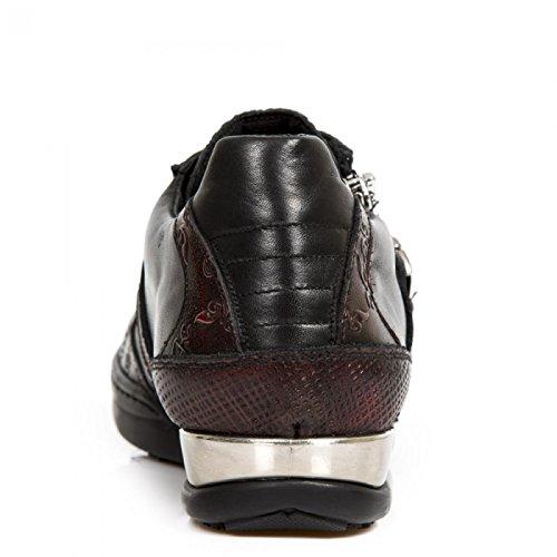 New Rock Boots M.hy033-c3 Urban Hardrock Punk Uomo Scarpe Sportive Di Sicurezza Rosse