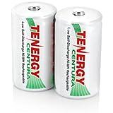 1 Card: 2 pcs Tenergy Centura D Size Low Self-Discharge (LSD) NiMH Rechargeable Batteries 8000mAh
