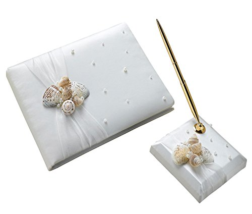 Gold Shell Cluster - Lillian Rose Coastal Beach Seashell Wedding Guest Book Pen Set
