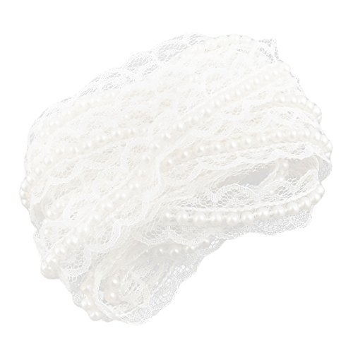 eDealMax Poliestere scollatura Abito da sposa in Pizzo abbellimento Applique Patch 2.2 Yards
