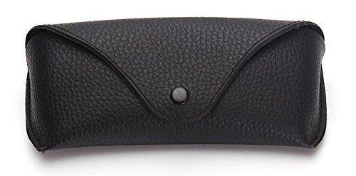 Funnuf Beltloop Vintage Sunglasses Case Litchi Leather Belt Case Retro Glasses Pouch Eyewear Case black by Funnuf (Image #1)