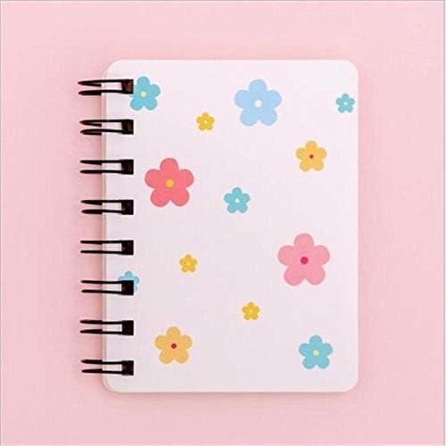 Piero 1Pc Kleine Blume Herz Tasche Tragbare Spiralblöcke Notizblock Tagebuch Planer Schule Büro Schreibwaren, 2