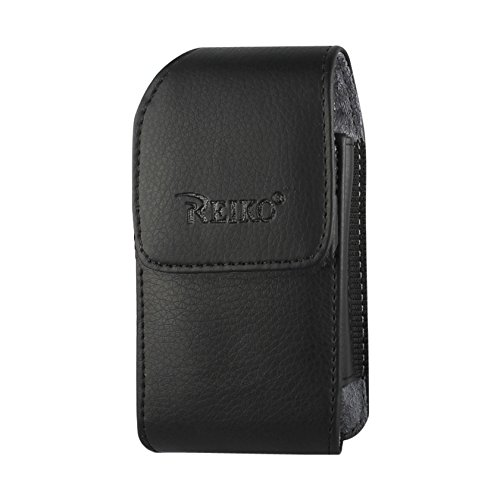 (Reiko Vertical Pouch Cell Phone Case for TREO 650 - Retail Packaging - Black)