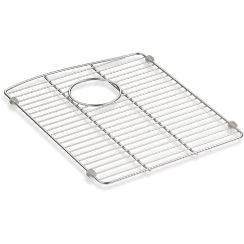 """Kohler 5662-ST Kennon Neoroc Stainless Steel Sink Rack, 13 5/8"""" x 16 1/2"""", for Left-Hand Bowl"""