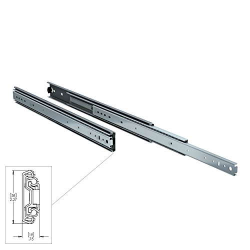 TCH Hardware 2 x 24'' inch 250 lb Heavy Duty Steel Drawer Slides - Full Extension Ball Bearing - Kitchen Cabinet Desk Draw by TCH