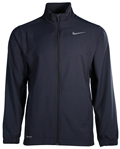 (Nike Mens Dri-Fit Long Sleeves Jacket Navy L)