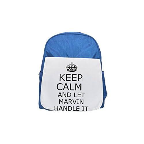 Handle it Marvin Keep Calm Printed Kid 's Blue Backpack, Cute de mochilas, Cute Small de mochilas, Cute Black Backpack, Cool Black Backpack, Fashion de mochilas, large Fashion de mochilas, Black Fashion backp