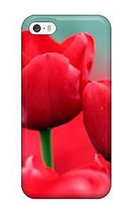 New Arrival RMNtXZl24631uosNq Premium Iphone 5/5s Case(red Tulips)