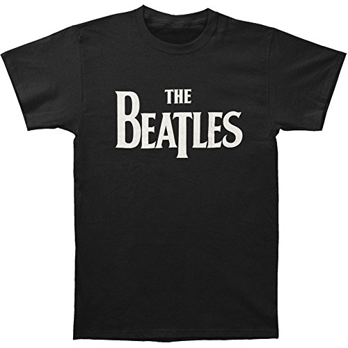 Beatles Solid White Black T Shirt product image