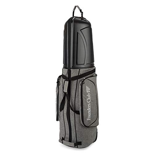 (Founders Club Golf Travel Bag Travel Cover Luggage for Golf Clubs with ABS Hard Shell Top )