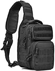 Tactical Sling Bag Military Sling Backpack Pack Small Range Bags Black