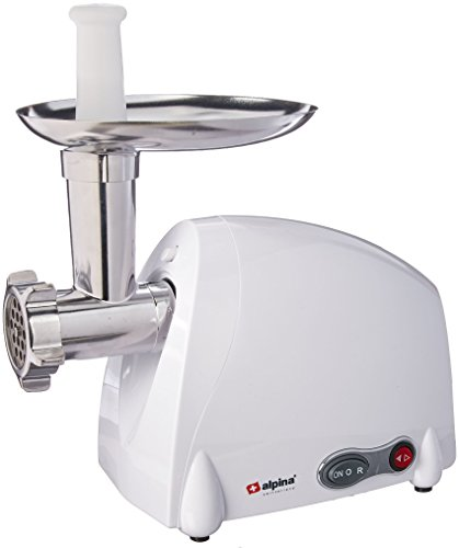 Alpina Sports SF-4017 Meat Grinder Sausage Stuffer, White