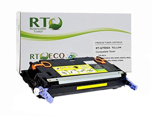 - Renewable Toner Compatible Toner Cartridge Replacement for HP 503A Q7582A Laserjet 3800 CP3505 (Yellow)
