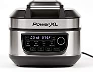 PowerXL Grill Air Fryer Combo 12-in-1 Indoor Grill, Air Fryer, Slow Cooker, Roast, Bake, 1550-Watts, Stainless