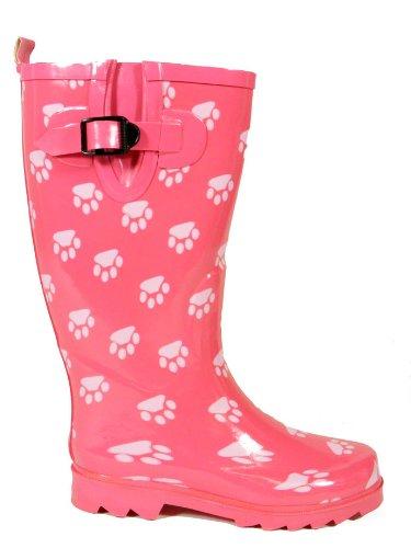 My1stWish Pinke Pfoten Regen Damen Gummistiefel Gr. 36 41