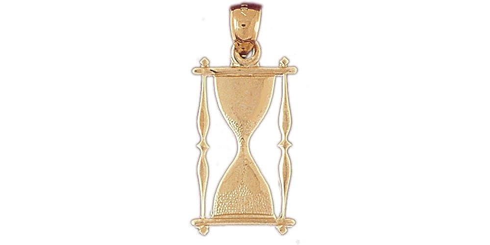 14k Yellow Gold Hour Glass Pendant
