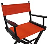 PERSONALIZED IMPRINTED Gold Medal Contemporary 24'' Counter Height Black Frame Directors Chair - Orange