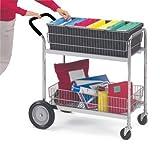 Charnstrom Medium Wire Basket Cart with Cushion Grip (M101)