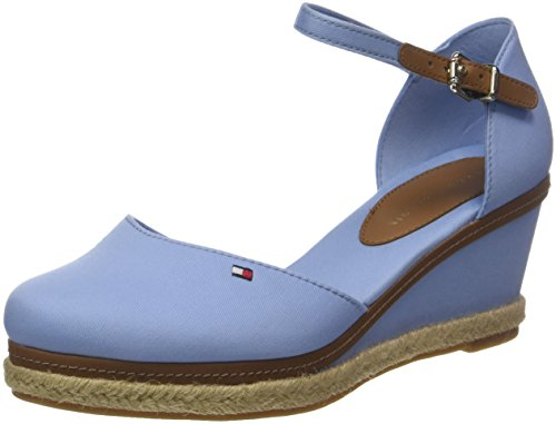 Tommy Hilfiger Damen Iconic Elba Basic Closed Toe Espadrilles Blau (Chambray Blue 407)
