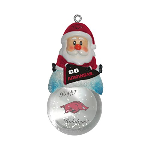 NCAA Arkansas Razorbacks Snow Globe Ornament
