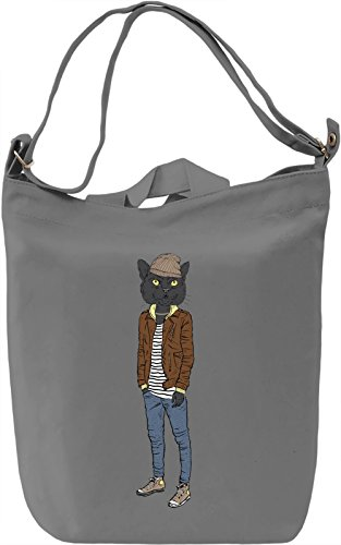 Hipster cat Borsa Giornaliera Canvas Canvas Day Bag| 100% Premium Cotton Canvas| DTG Printing|