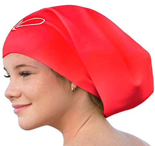 e0af2f45164 Long Hair Swim Cap - Swimming Caps for Women Men - Extra Large Swim Caps -