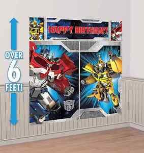 Transformers Scene Setter Happy Birthday Decoration Banner Party